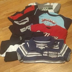 lot of 7 toddlers long sleeve shirts